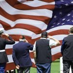 Army Veterans Saluting Image