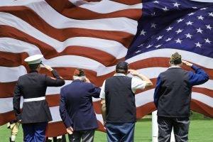Army Veterans Saluting Image